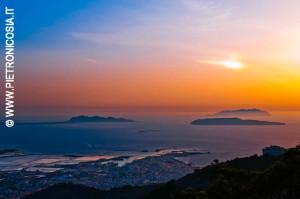Le isole Egadi viste da Erice (© Foto di Pietro Nicosia)